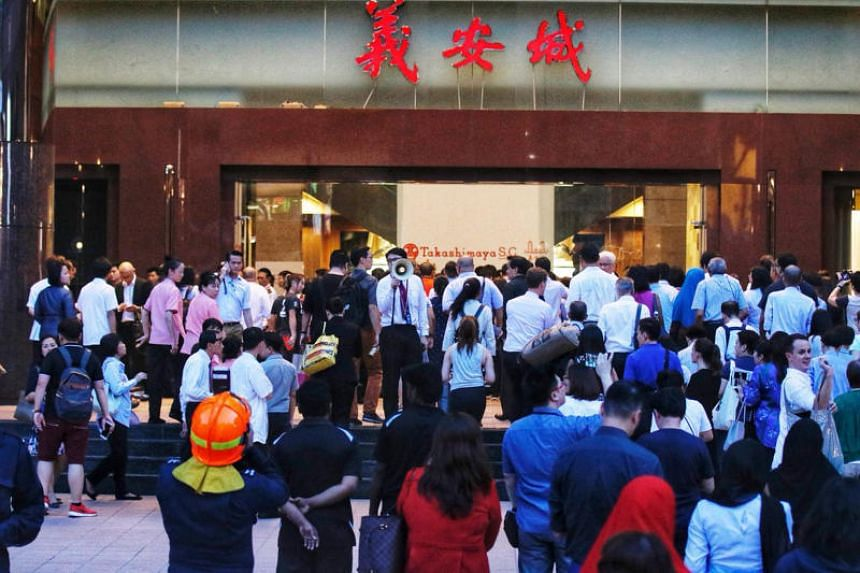 Ngee Ann City after the evacuation on Sept 26, 2018.