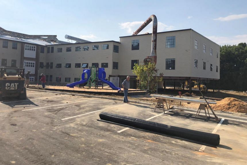 Abandoned after much of the US furniture production shifted overseas, a former furniture factory is being overhauled into apartments in Thomasville, North Carolina, US, on Aug 14, 2018.
