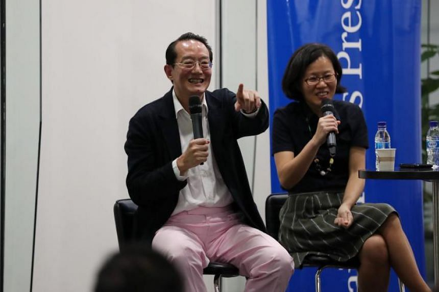 Plastic surgeon and author Dr Woffles Wu revealed details of his memoir at the Straits Times Book Club, held at National Library, on Sept 26, 2018. The session was moderated by Straits Times head of training and talent development Lydia Lim.