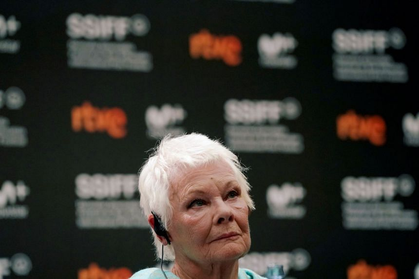 Judi Dench taking part in a news conference at the San Sebastian Film Festival.