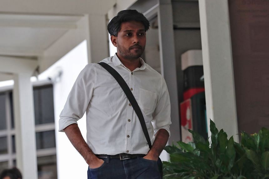 Artist Seelan Palay is accused of holding an illegal public procession from Hong Lim Park to the Parliament House.