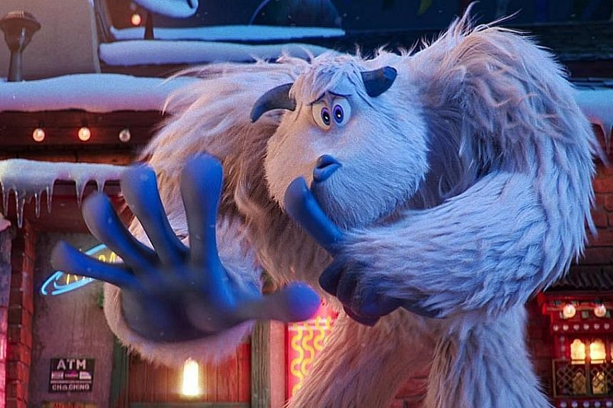 Channing Tatum (left) is the voice of Migo (above), a young yeti who stumbles upon a human - a creature he was told does not exist.