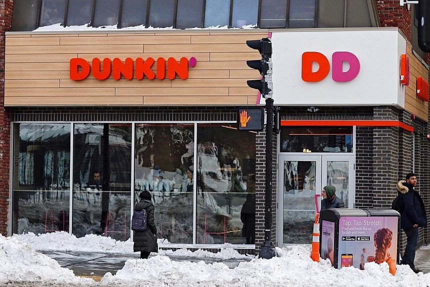 """A renamed Dunkin' in Boston, Massachusetts. Despite dropping """"Donuts"""" from its name, the American chain will still sell doughnuts."""