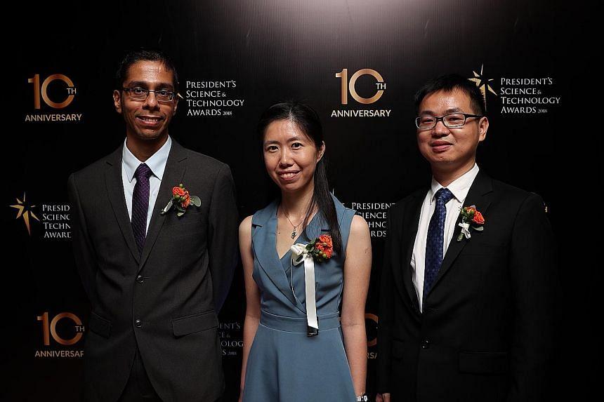 From left: Dr Anjan Soumyanarayanan, Dr Xue Shifeng and Dr Liu Zheng.