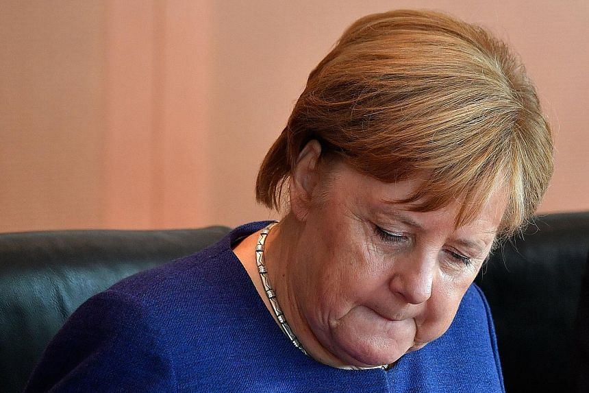 Lawmakers defied Dr Angela Merkel, who had called on them to re-elect trusted ally Volker Kauder as head of the parliamentary party.