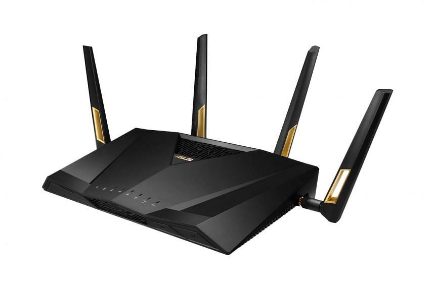 The Asus RT-AX88U router uses the new 802.11ax Wi-Fi standard that promises faster speeds and higher efficiency than the existing 802.11ac standard.