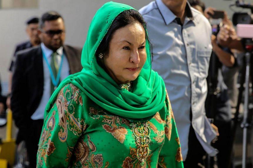 Rosmah Mansor, wife of former Malaysian prime minister Najib Razak, arrives at the Malaysian Anti-Corruption Commission in Putrajaya, on Sept 26, 2018.