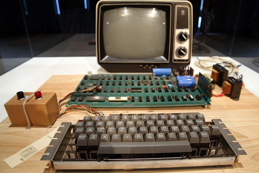 The Apple-1 was among 175 of those sold by Mr Steve Jobs and Mr Steve Wozniak from their production in a garage in Silicon Valley in the early days of Apple.