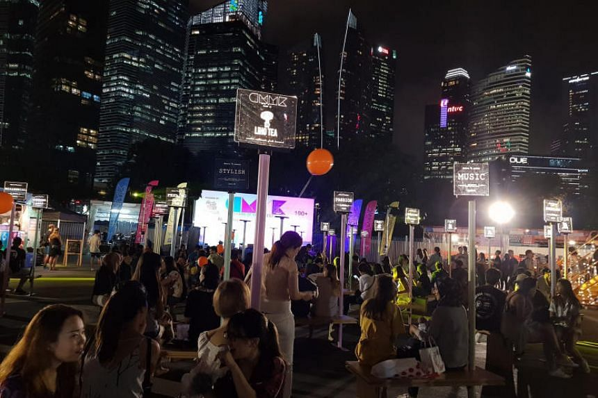 The crowd at the Creative Millennials Youth Karnival (CMYK) pop-up fair, which was held at Bayfront Event Space in Marina Bay from Sept 20 to Sept 23.