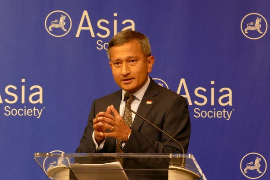 """Stressing the levels of US and Chinese investment in South-east Asia, Foreign Minister Vivian Balakrishnan said the hope in the region is that """"cool heads prevail"""" between the two countries."""