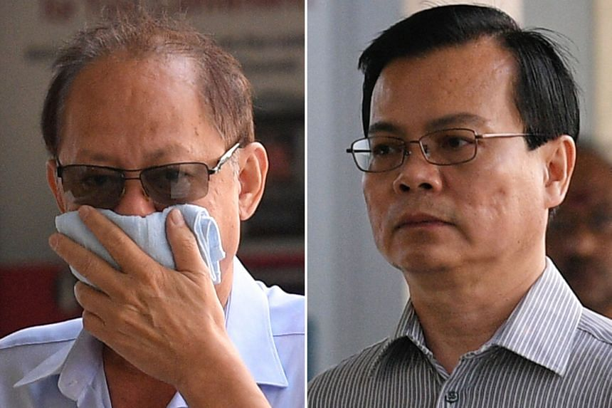 Company director Chia Sin Lan (top) faces 54 counts of bribing Wong Chee Meng (above), the former general manager of Ang Mo Kio Town Council. Wong faces 55 charges for receiving bribes.