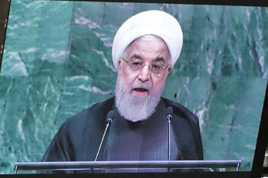 "In his speech at the UN General Assembly on Tuesday, Iranian President Hassan Rouhani said the US had waged ""economic war"" against Iran by reimposing unilateral sanctions, which were lifted under the 2015 multinational deal in return for Teheran curb"