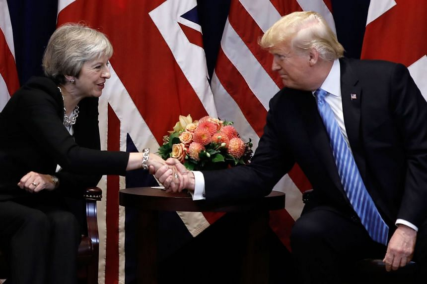 Trump and May meet on the sidelines of the United Nations General Assembly.