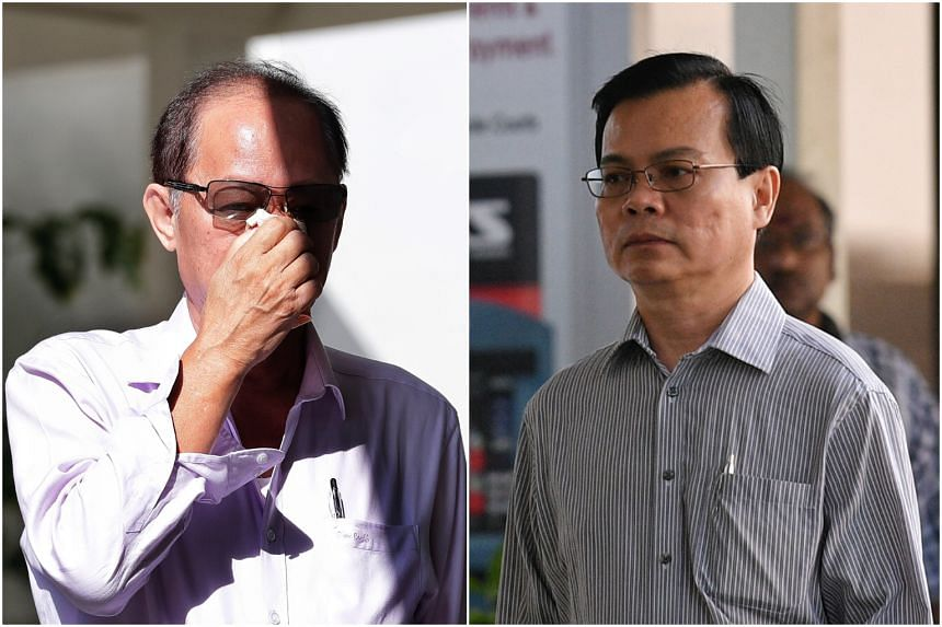 Company director Chia Sin Lan (left) is accused of giving bribes to former Ang Mo Kio town council general manager Wong Chee Meng.