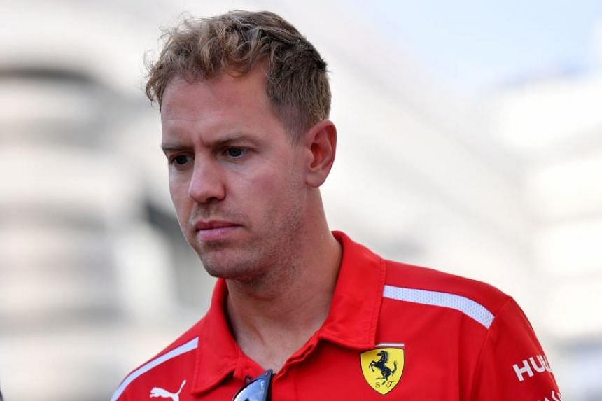 Ferrari's Sebastian Vettel (above) is 40 points adrift of Mercedes rival Lewis Hamilton with six races remaining.