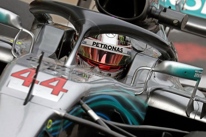 Hamilton during the second practice session.
