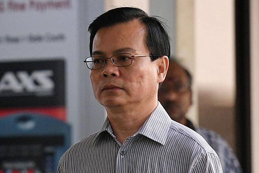 Of the 55 charges brought against former Ang Mo Kio Town Council general manager Wong Chee Meng (above), one of them involves the free use of a mobile phone, with total charges of more than $2,500 incurred in 2015 and 2016. The court earlier heard th
