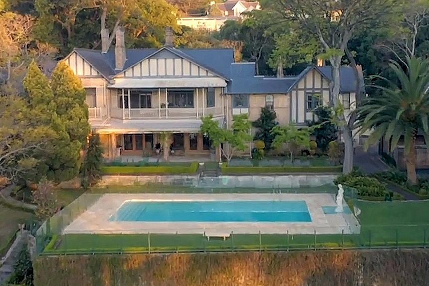 Billionaire Mike Cannon-Brookes (above) has bought Fairwater (left), the largest privately owned beachfront holding on Sydney Harbour.