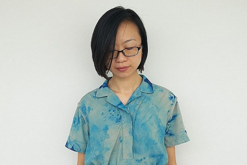 Agatha Lee, who goes by the moniker Agy Textile Artist, advocates upcycling and shares her works, such as a dress she dyed (above) and an outfit she added embroidery to (right), on her Instagram account.