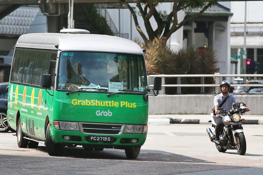 GrabShuttle Plus operates on a non-fixed route, with buses allocated to users based on factors such as proximity of buses to the user's pick-up and drop-off points.