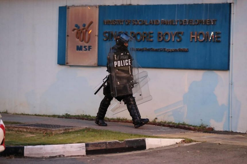 Police are investigating the incident that took place at the juvenile residential home run by the Ministry of Social and Family Development.