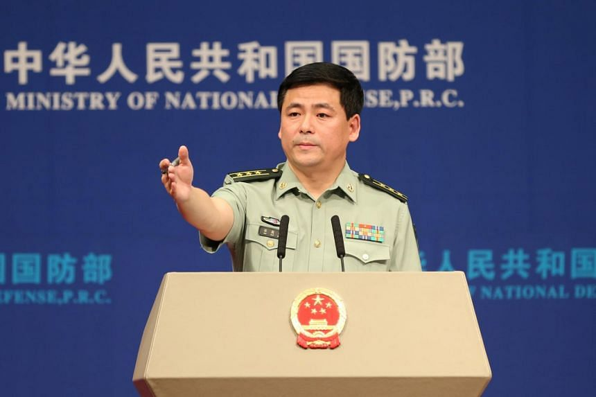 Defence Ministry spokesman Ren Guoqiang said that China is resolutely opposed to provocative US military actions in the South China Sea.