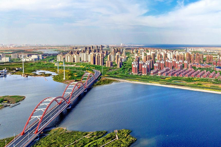 Tianjin Eco-city sits on a 30 sq km plot of land which was heavily polluted when the project was launched 10 years ago. Its master developer said the focus in the next five years is to develop the Eco-city's centre into a green, liveable and smart on
