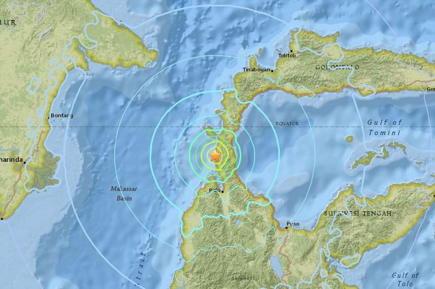 Indonesia's meteorology, climatology and geophysics agency said there was no risk of a tsunami after a quake struck off the coast of Sulawesi island on Sept 28, 2018.