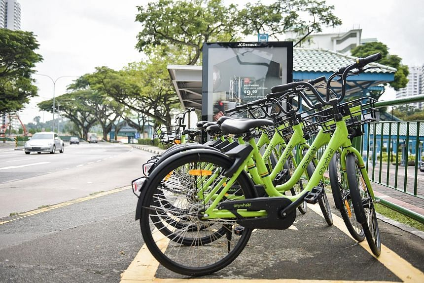 Bike-sharing operator Anywheel has been recalling some of its green bicycles to meet LTA's ceiling of 1,000 shared bicycles that the company has received approval to operate from the end of next month under the new licensing scheme.