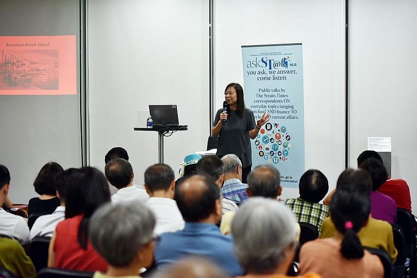 About 250 people turned up at the Central Public Library yesterday to get tips from ST travel writer Lee Siew Hua.