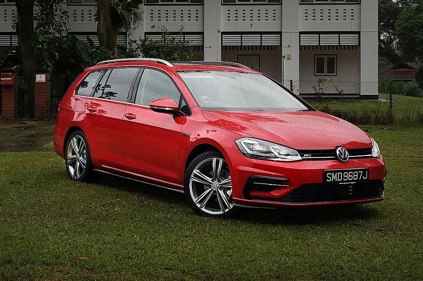 The Volkswagen Golf Variant comes with R-Line trim, 18-inch wheels, full LED lighting, heated self-folding wing mirrors, silver anodised roof rails, panoramic sunroof and sports suspension.