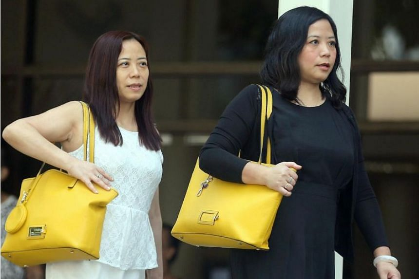 Ms Tang Lei (left) and her sister Ms Tang Bei filed their statement of claims in November 2016.