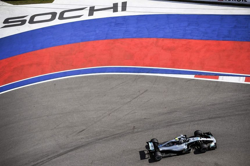 Mercedes' Finnish driver Valtteri Bottas steers his car during the third practice session of the Formula One Russian Grand Prix at the Sochi Autodrom circuit in Sochi on Sept 29, 2018.