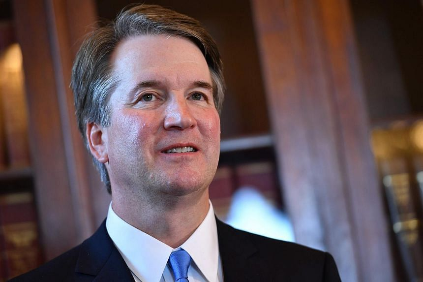 Brett Kavanaugh attending a meeting at the US Capitol in Washington, DC, on July 10, 2018.