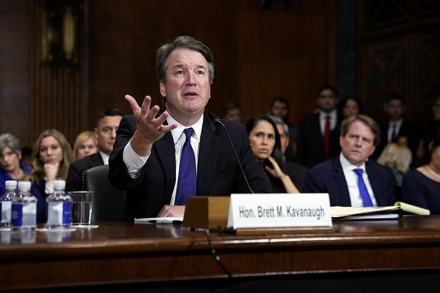 Supreme Court nominee Brett Kavanaugh testifies before the Senate Judiciary Committee hearing.