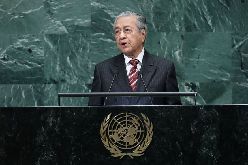 Malaysian Prime Minister Mahathir Mohamad called for an end to the dominance in the United Nations of the five permanent members of the UN Security Council.