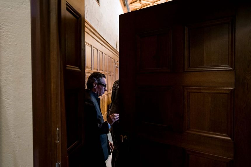 Frenchman Jean-Claude Arnault entering a courtroom in Stockholm on Sept 24, 2018. Rape and sexual assault allegations against him prompted the Swedish Academy to postpone the Nobel Literature Prize.