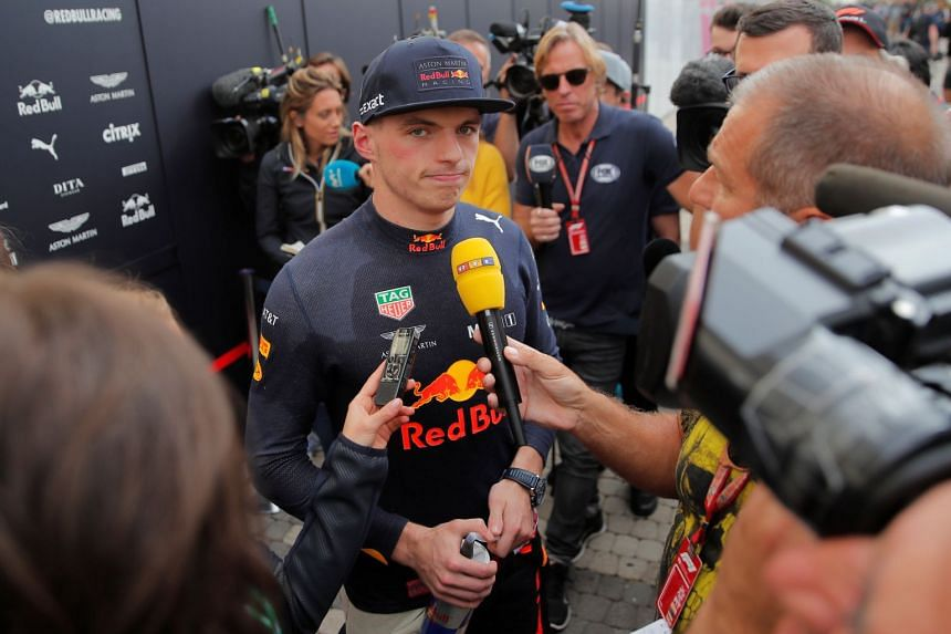 Red Bull's Max Verstappen during an interview after the practice sessions.