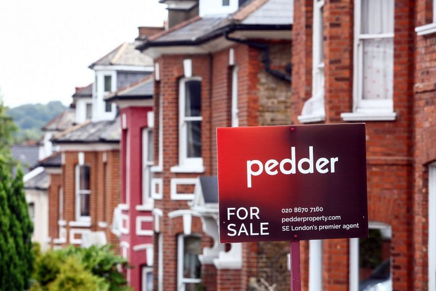 An estate agent's sign outside a property in London.