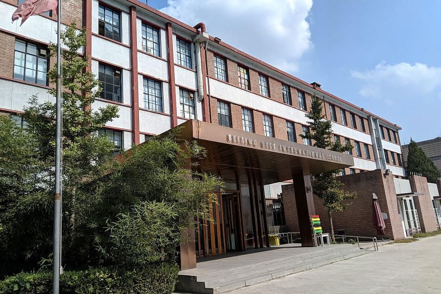 Beijing BISS International School (above) closed temporarily from Sept 21 to last Tuesday as a result of its financial troubles. The school's head Randy Eplin (right) says government officials have pledged their support for the school and it has rece