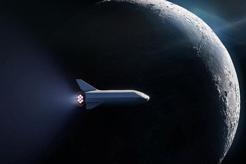 SpaceX's BFR launch vehicle. Mr Elon Musk's SpaceX company has become a big player in satellite launches, and achieved some impressive milestones. Mr Musk recently announced the first paying customer for a trip to the moon, namely Mr Yusaku Maezawa,