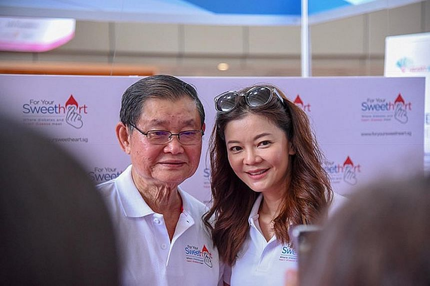 Celebrity Michelle Chong and her father Steven Chong are fronting a campaign to raise awareness of the link between diabetes and heart disease.