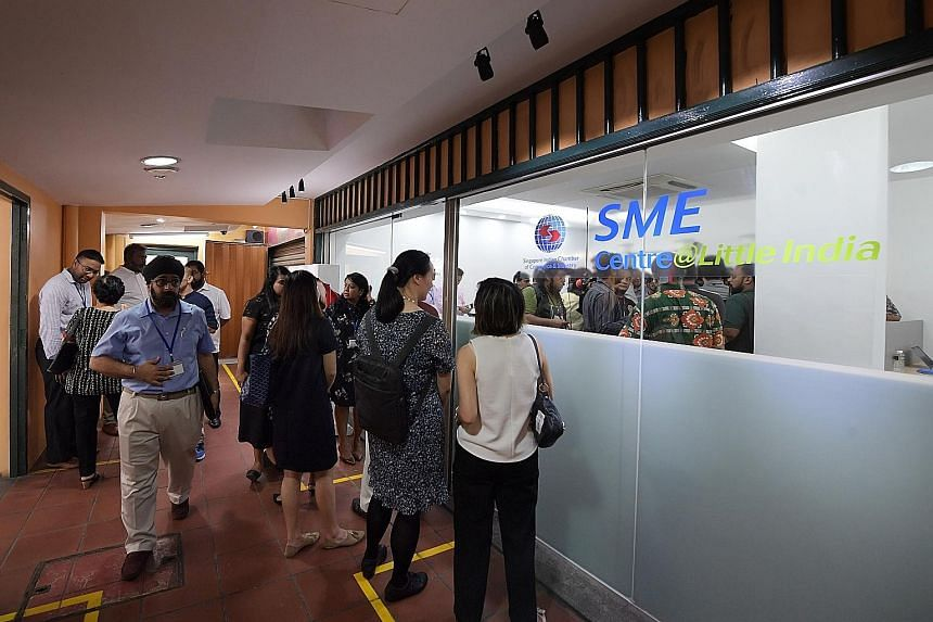 The SME Centre, located in the Little India Arcade, was officially opened yesterday by Minister for Communi-cations and Information S. Iswaran.