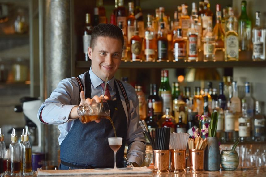 """Bar manager Michele Mariotti includes savoury cocktails on MO Bar's menu because he says such drinks """"have not been explored much""""."""