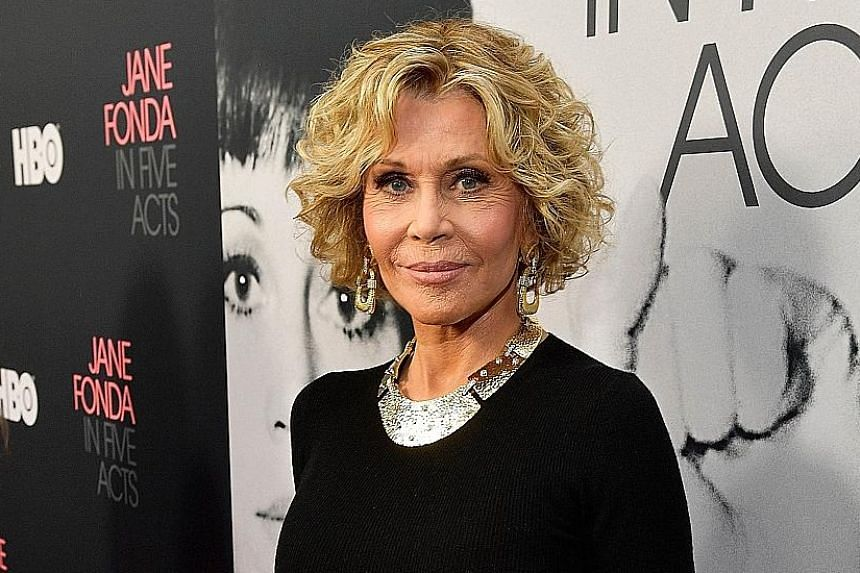 Jane Fonda at the premiere of her documentary at the Hammer Museum in Los Angeles last month.