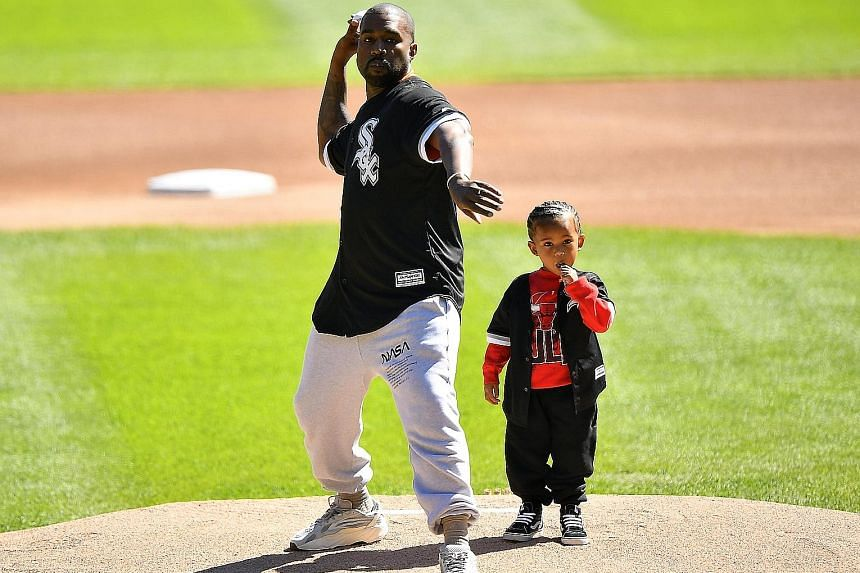 Ye (pictured with his son Saint) announced on Twitter that he has changed his name from Kanye West.
