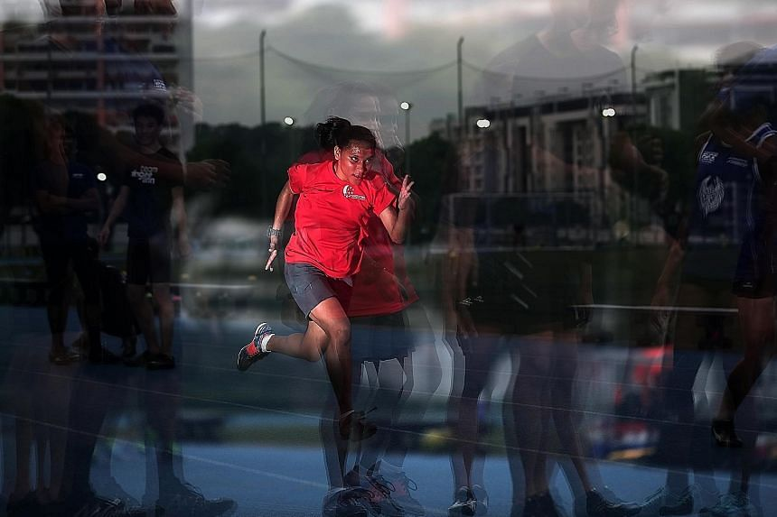 To prepare for the upcoming Asian Para Games, Siti Nurhayati Ali Askar Khan trains four days a week, focusing on speed work like 50m sprints and high-speed control running.