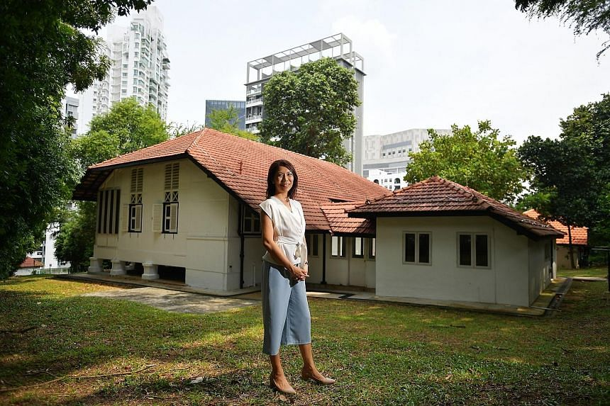 Safe Place director Jennifer Heng at the black-and-white bungalow in the Novena area, which will provide temporary housing for pregnant women in distress from next month. Safe Place, which was officially launched on Sept 1, is an initiative of Lakesi