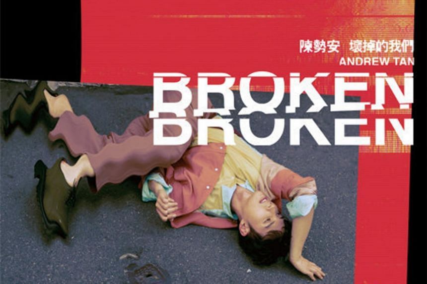 Album cover for Broken by Malaysian singer Andrew Tan.