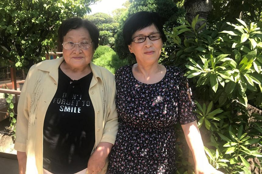 Ms Hiroko Saito, 77, (left) and Ms Hiroko Sakakibara, 68, in Osaka, Japan, on Aug, 31, 2018. Their families were lured to North Korea from Japan in 1961, and they are now suing the North Korean government for getting them there on false pretenses.